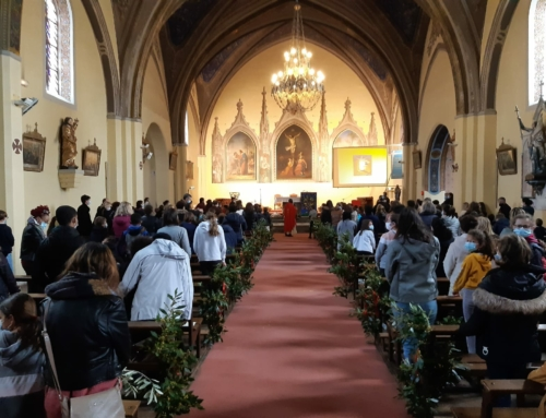 Célébration de la Parole réussie samedi des Rameaux, pour les enfants du caté
