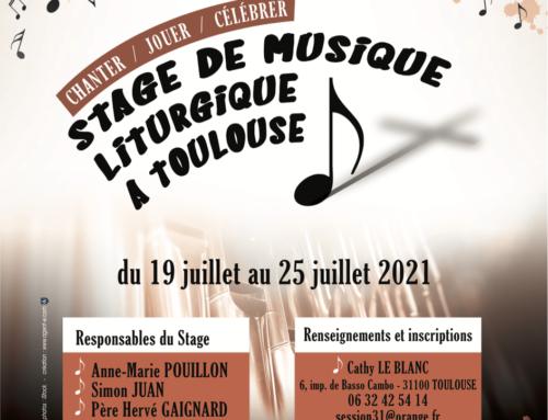 Stage de Musique Liturgique Été 2021